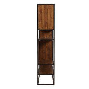 Bibliothèque à cases industrielle en bois recyclé et acier - Manufacture - Visuel n°7