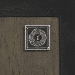 Bibliothèque à cases industrielle en bois recyclé naturel grisé et métal - Manufacture - Visuel n°7