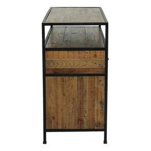 Commode 5 tiroirs en bois recyclé - Manufacture - Visuel n°6