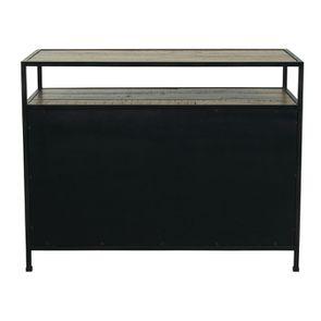 Commode 5 tiroirs en bois recyclé - Manufacture - Visuel n°8