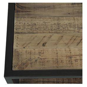 Commode 5 tiroirs en bois recyclé naturel grisé - Manufacture