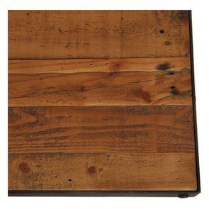 Table rectangulaire extensible industrielle en bois recyclé et métal - Manufacture - Visuel n°22