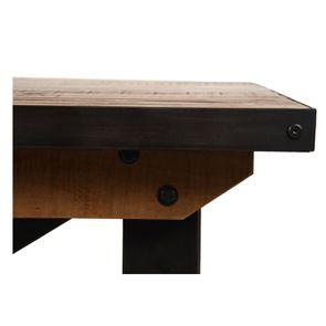 Table rectangulaire extensible industrielle en bois recyclé et métal - Manufacture - Visuel n°23