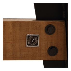 Table rectangulaire extensible industrielle en bois recyclé et métal - Manufacture - Visuel n°24