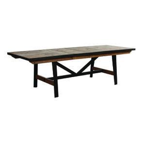 Table rectangulaire extensible industrielle en bois recyclé et métal - Manufacture - Visuel n°11