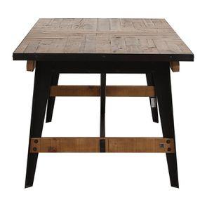 Table rectangulaire extensible industrielle en bois recyclé et métal - Manufacture - Visuel n°13