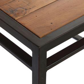 Chaise style industriel en métal et bois recyclé - Manufacture - Visuel n°12