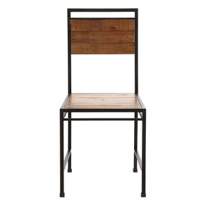 Chaise style industriel en métal et bois recyclé - Manufacture