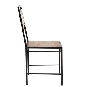 Chaise style industriel en métal et bois recyclé - Manufacture - Visuel n°5