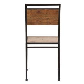 Chaise style industriel en métal et bois recyclé - Manufacture - Visuel n°7