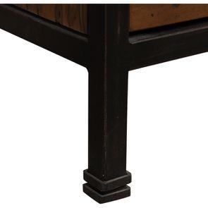 Buffet vitré industriel en bois recyclé et acier - Manufacture - Visuel n°11