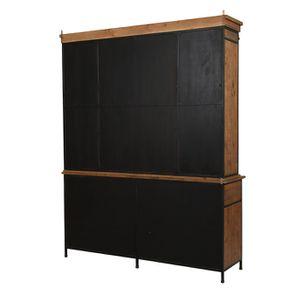 Buffet vitré industriel en bois recyclé et acier - Manufacture - Visuel n°9