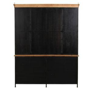 Buffet vitré industriel en bois recyclé et acier - Manufacture - Visuel n°10