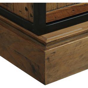 Commode 6 tiroirs avec porte vitrée en bois recyclé et acier - Manufacture - Visuel n°10