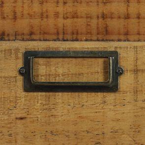 Commode 6 tiroirs avec porte vitrée en bois recyclé et acier - Manufacture - Visuel n°16