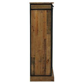 Commode 6 tiroirs avec porte vitrée en bois recyclé et acier - Manufacture - Visuel n°7