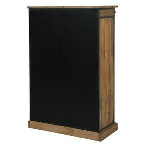 Commode 6 tiroirs avec porte vitrée en bois recyclé et acier - Manufacture - Visuel n°8