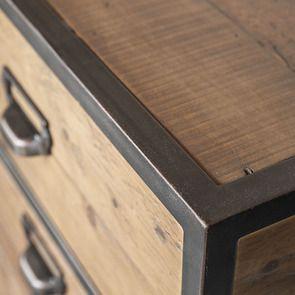 Bureau industriel en bois recyclé et acier - Manufacture - Visuel n°4