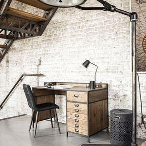 Bureau industriel en bois recyclé et acier - Manufacture - Visuel n°6