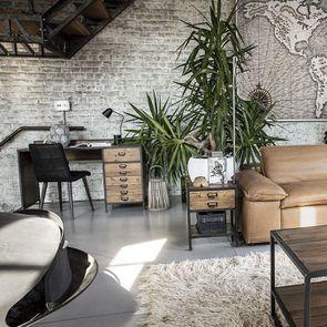 Bureau industriel en bois recyclé et acier - Manufacture - Visuel n°10