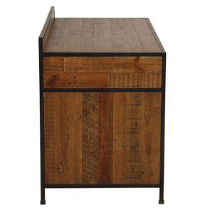 Bureau industriel en bois recyclé et acier - Manufacture - Visuel n°14