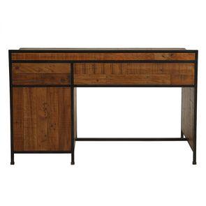 Bureau industriel en bois recyclé et acier - Manufacture - Visuel n°16