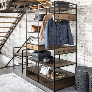 Dressing industriel en bois recyclé et acier - Manufacture - Visuel n°6