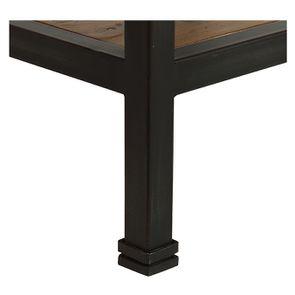 Table de chevet industrielle en bois recyclé et métal - Manufacture - Visuel n°15