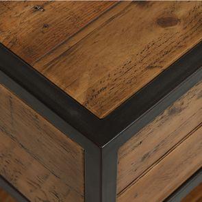 Table de chevet industrielle en bois recyclé et métal - Manufacture - Visuel n°16