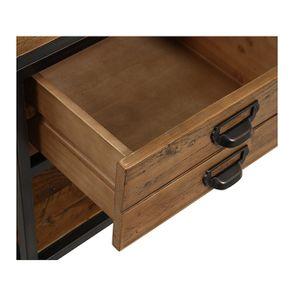 Table de chevet industrielle en bois recyclé et métal - Manufacture - Visuel n°17