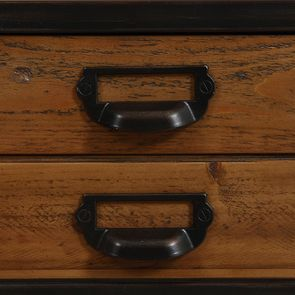 Table de chevet industrielle en bois recyclé et métal - Manufacture - Visuel n°18