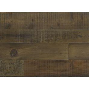 Table de chevet industrielle en bois naturel grisé recyclé et métal - Manufacture - Visuel n°2