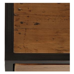 Meuble d'entrée industriel en bois recyclé et métal - Manufacture - Visuel n°10