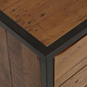 Meuble d'entrée industriel en bois recyclé et métal - Manufacture - Visuel n°11