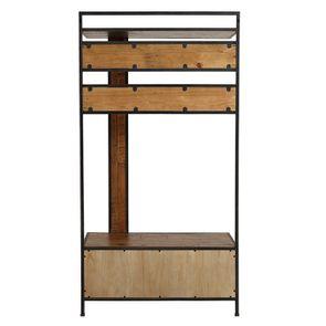 Meuble d'entrée industriel en bois recyclé et métal - Manufacture - Visuel n°8