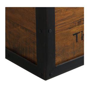 Pouf coffre industriel en bois recyclé - Manufacture