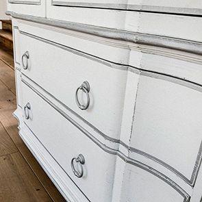 Commode blanche 3 tiroirs en bois - Monceau - Visuel n°3