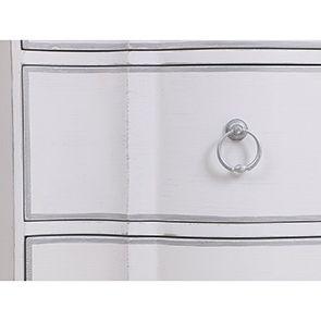 Commode blanche 3 tiroirs en bois - Monceau - Visuel n°11