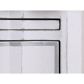 Table de chevet blanche 2 tiroirs en bois - Monceau - Visuel n°11