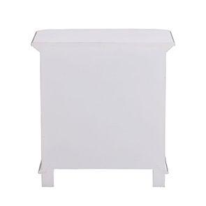 Table de chevet blanche 2 tiroirs en bois - Monceau - Visuel n°6