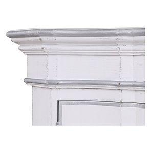 Armoire penderie blanche 2 portes en bois - Monceau - Visuel n°8