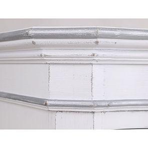 Armoire penderie blanche 2 portes en bois - Monceau - Visuel n°9