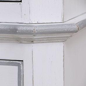 Armoire penderie blanche 2 portes en bois - Monceau - Visuel n°11