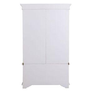 Armoire penderie blanche 2 portes en bois - Monceau - Visuel n°6