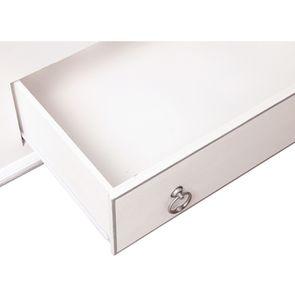 Lit 140x190 avec tiroirs en bois blanc satiné - Monceau - Visuel n°14