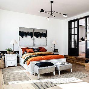 Lit 180x200 avec tiroirs en bois blanc satiné - Monceau - Visuel n°2