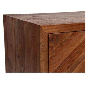Commode 3 tiroirs en bois recyclé - Empreintes - Visuel n°12