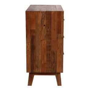 Commode 3 tiroirs en bois recyclé - Empreintes - Visuel n°7