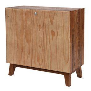 Commode 3 tiroirs en bois recyclé - Empreintes - Visuel n°8