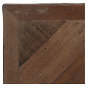 Lit 140x190 en bois recyclé naturel grisé - Empreintes - Visuel n°8